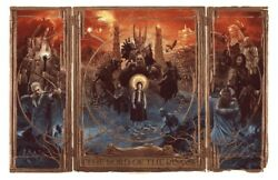 The Lord Of The Rings Triptych Gabz Poster Print Lotr Bottleneck Gallery Mondo