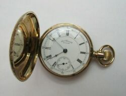 14k Gold Waltham 18s 18 Size Appleton Tracy And Co. Hunter Case Pocket Watch 1888