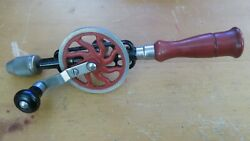Millers Falls 2-01 Hand Crank Egg Beater Hand Drill 7 Orig Bits - Made In Usa
