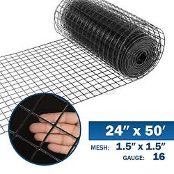 24and039and039x50and039 1.5inch Hardware Cloth Galvanized Chicken Welded Fence Wire Mesh Roll