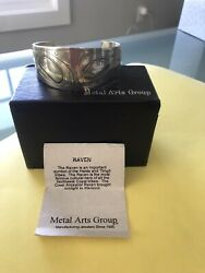 Silver Cuff- Metal Arts Group Mag Artist Amos Wallace The Raven