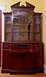 Local Pick Up Only St. Louis, Mo Antique Secretary Desk W/hutch Warsaw Mfg. Co.