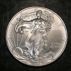 2009 Uncirculated American Silver Eagle Us Mint Issue 1oz Pure Silver I950