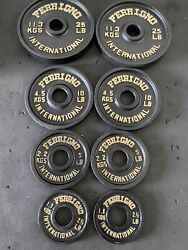 Vintage Olympic Ferrigno Weights 85lbs