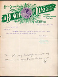 1902 - Vaudeville Broadway Play Ny - A Bunch Of Keys Empire Theatre Letter Head