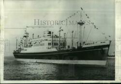1948 Press Photo First Vessel To Dock In New York Since Wwii, The Westerdam.