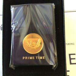 Asahi Beer Zippo With Prime Time 24 Gold Plate Limited To 200 Pieces