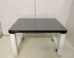Crated Newport 36 X 48 Optical Breadboard Table Roll-around Rigid Bench