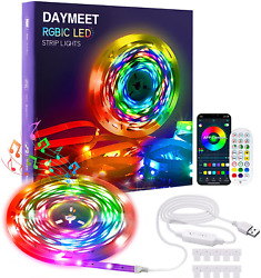 Led Strip Lights 33ft Rgbic Rainbow Led Strips Color Changing Lights Synchronous