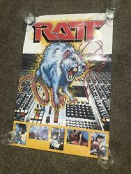 Ratt/ 80andrsquos Hair Metal- Extremely Rare/ Vintage 1984 Poster