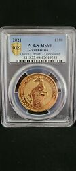 2021 Queens Beast White Greyhound 1oz Gold Coin Pcgs Ms69