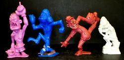 1960's Vintage Boxer Football Baseball Thinker Nutty Mads Figure Louis Marx Toys