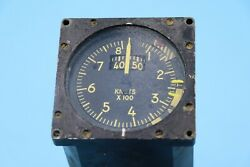 Kollsman Airspeed And Angle Of Attack Aircraft Instrument Gauge Convair F102/106
