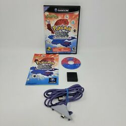 Pokemon Box Ruby And Sapphire Gamecube, 2004 Complete Manual Gba Cable Cib