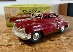 Vintage Tin Toy Car Sss New Cadillac Made In Japan 1950's Mint In Box