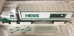 1992 Hess Toy Truck 18 Wheeler And Racer New Gas Oil Station Transport Race Car