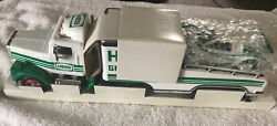 1991 Hess Toy Truck 18 Wheeler And Racer New Gas Oil Station Transport Race Car
