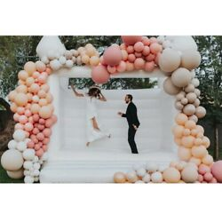 4x4m-13x13ft Outdoor Inflatable Wedding Jumper Bouncer, White Party Castle House