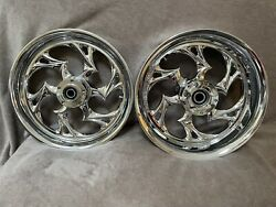 """Rc Components 17"""" Shifter Chrome Wheels - 99-07 Suzuki Hayabusa - Front And Rear"""