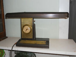 Telechron Desk Lamp With Clock 30and039s Airplane Wing 20