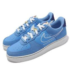 Nike Air Force 1 07 Lv8 Af1 First Use University Blue Men Casual Shoe Db3597-400