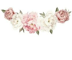 Home Decor Pink Rose Wall Decal Mural Removable Flowers Wall Stickers Vinyl Art