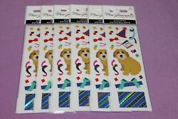 Mrs Grossman#x27;s LOT 6 Packs NEW Limited Edition Reflection Party Dog Stickers