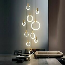 Modern Style Lighting Ring Lamps For Home Nordic Chandelier Ceiling Mounted Deco