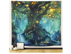 Tapestry in the Woods Arfbear Famous Nature Tree Elves Warm Green medium59x51quot;