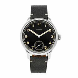 Longines Heritage Military 1938 Le Manual 43mm Steel Mens Watch L2.826.4.53.2