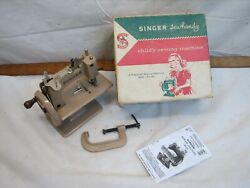 Vintage Singer No 20 Sew Handy Childand039s Toy Sewing Machine W/clamp Sewhandy Box