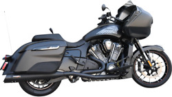 Bassani 8h16sb Black True Dual Exhaust System For 20-21 Indian Challenger