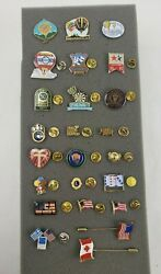 Lot 24 Variety Lapel/tie Pins Balloon - Patriotic - Toastmasters - Lions + More