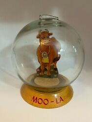 Vintage And039moo-laand039 Cow Glass Globe Bubble Bank 1940and039s Coin Saver Vic Moran