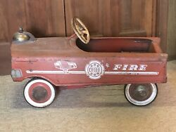 Fire Chief Vintage Murray Original Pedal Car Complete Condition C1955-1960's Toy
