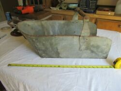 Antique Large Coal Or Grain Scoop 12 X 12 X 26 Very Rare Size  Lot 21-70-15