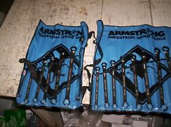 Armstrong 27-708 17 Piece 12 Point Full Polish Geared Box Wrench Set Fractional