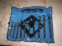 Armstrong 54-609 10 Piece 12 Point Full Polish Geared Box Wrench Set Metric New