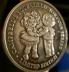 Ultra Rare 1998 1 Oz Campbells Soup Silver Coin/medal Limited Edition
