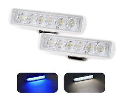 Pair Two   Dual Color   White And Blue   Boat Spreader Flood Deck Light
