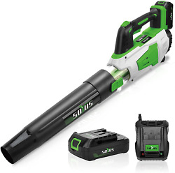 Cordless Leaf Blower Battery And Charger Electric Leaf Blower For Lawn Care Soyu