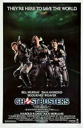 Gold Coin Silver Antique Coins Ghostbusters Original Movie Poster. 1984