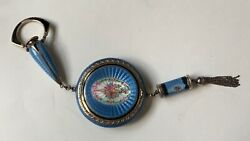 Antique Foster And Bailey Sterling And Guilloche Enamel Compact Lipstick And Perfume