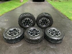 Jeep Wrangler Rubicon Oemhard Rock Wheel Package Set Of 5 17in Rims 32in Tires