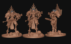 Scifi Space Nun Battle Sister Warsuits X3 By Minigames Miniatures 28mm Scale 2
