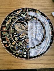 Mint Villeroy And Boch Intarsia Gallo Chop Plate Round Platter 8986910 12
