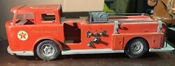 Vintage 25 Buddy L Texaco Fire Chief Toy Truck Parts Or Repair