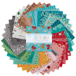 Stitch 5 Inch Squares X 42 Pieces Cotton Quilt Fabric New Charm Stacker Pack