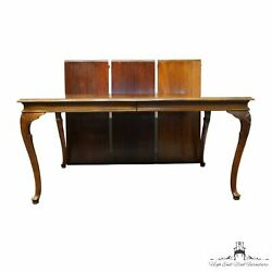 Davis Cabinet Solid Cherry Traditional Queen Anne Style 118 Dining Table 68354