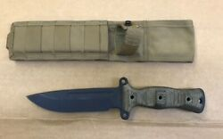 Busse Combat Gemini M Special Edition A2 Blue And Fde With Molle Sheath